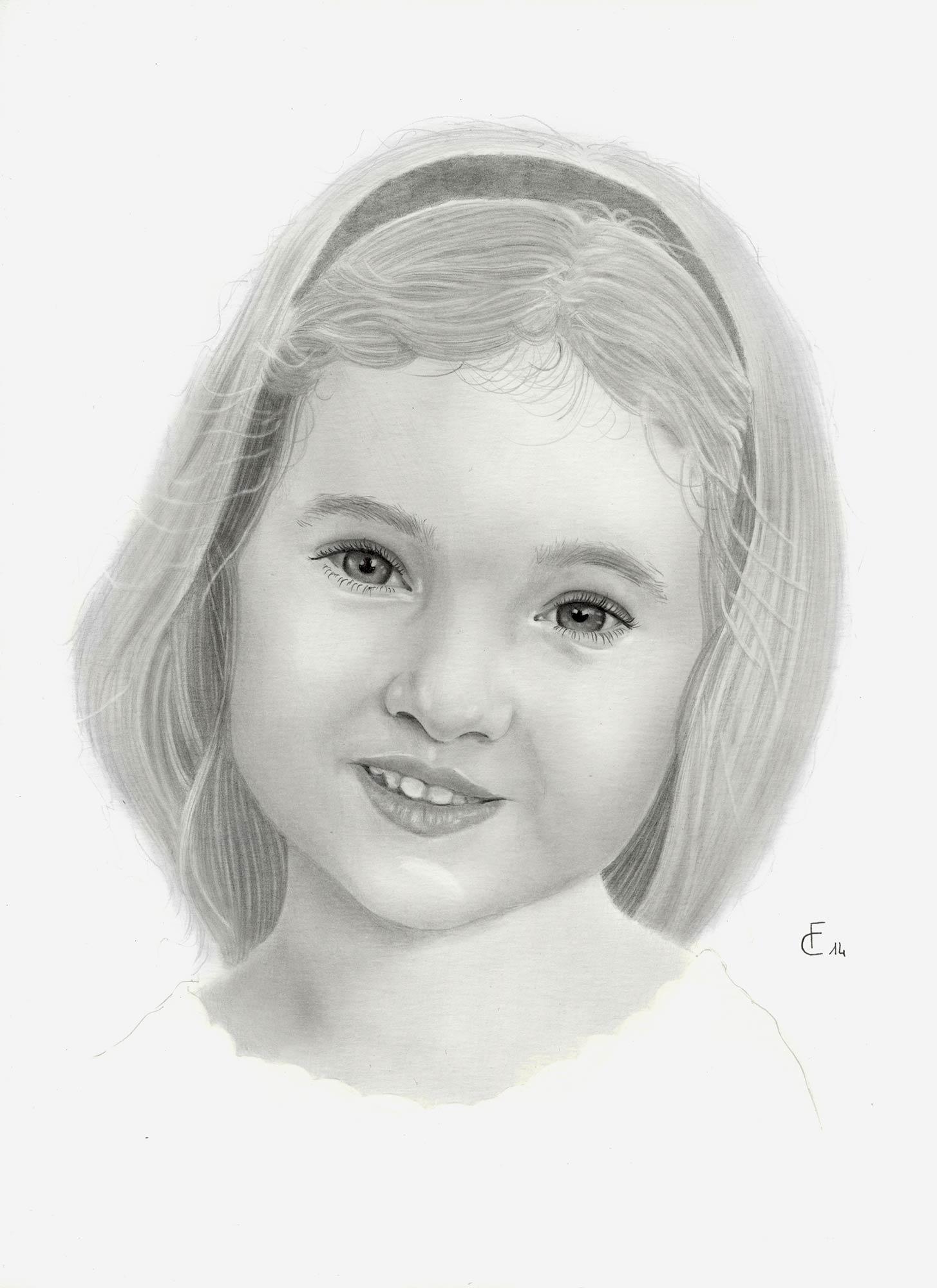 Amato Ritratti a matita di bambini e disegni che arrivano al cuore WL29