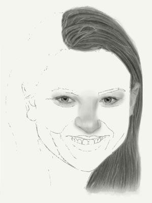 Come disegnare il volto di una ragazza con una matita disegni for Disegni da copiare a matita